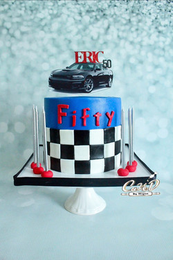 Dodge Charger 50th Birthday Cake