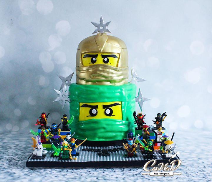 Gold Lego Ninjago Cake
