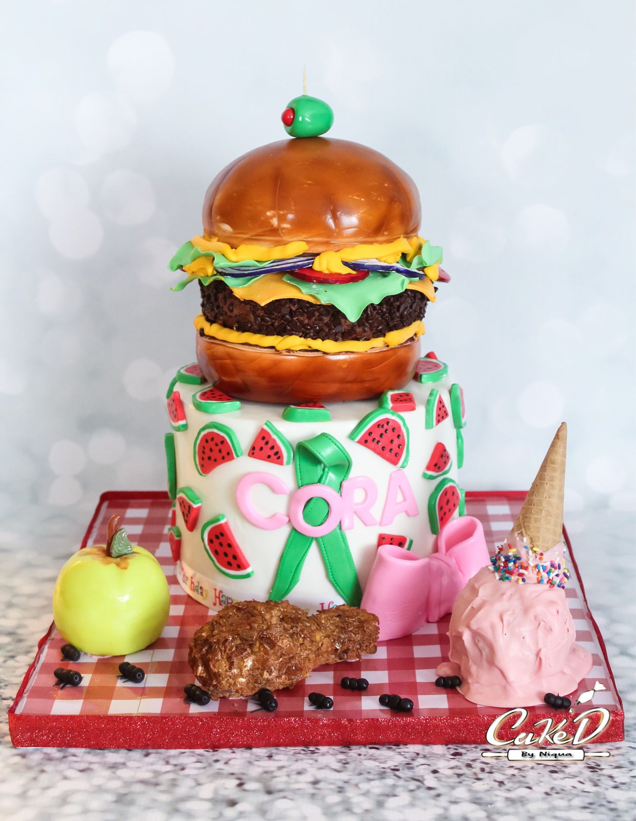Picnic Burger Cake