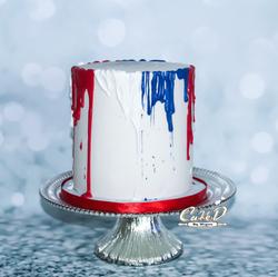 4th of July Buttercream Drip Cake