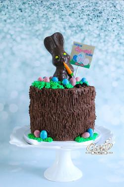 Easter Gender Reveal Cake