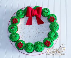Holiday Cupcake Wreath