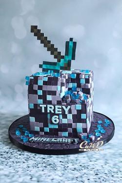 Minecraft Diamond Ore Cake