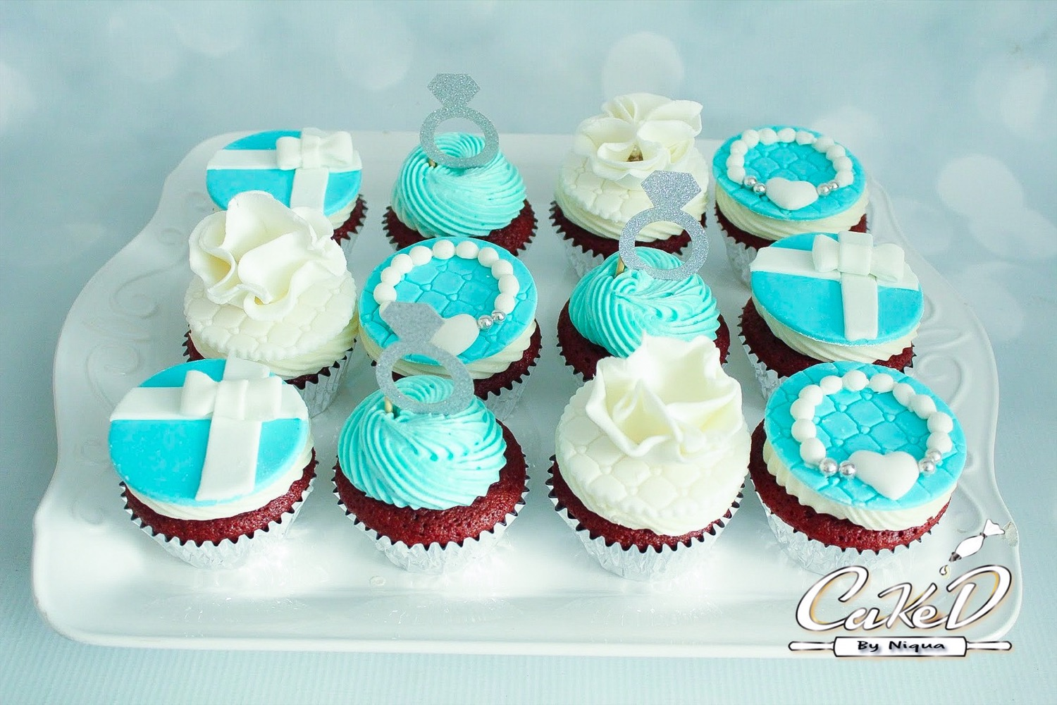 Tiffany Engagement Cupcakes