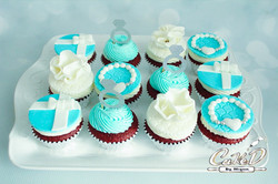 Tiffany Engagement Cupcakes