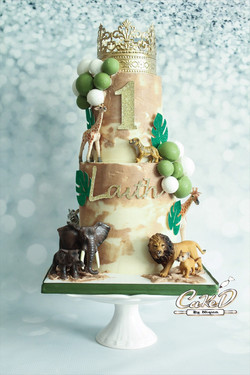 Royal Safari Birthday Cake