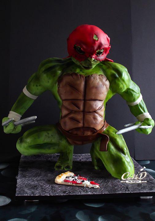 3D Ninja Turtle Cake
