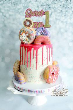 Donut 1st Birthday Cake