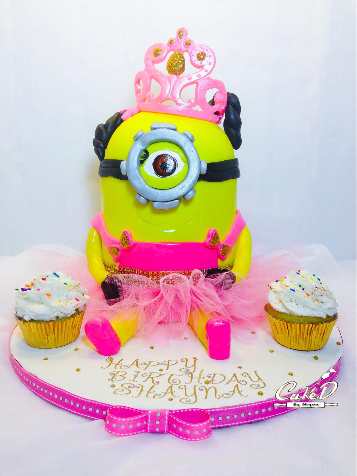 Princess Minion Cake
