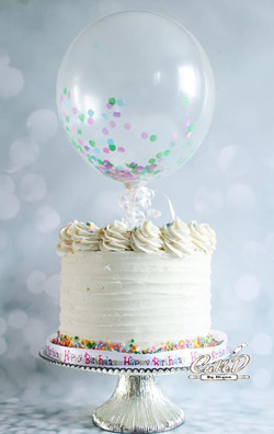 Buttercream Sprinkle Confetti Cake
