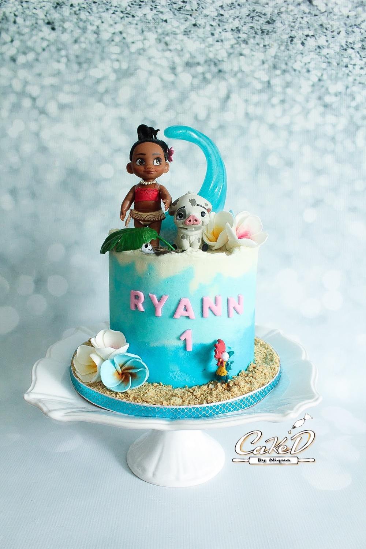 Moana 1st Birthday Cake
