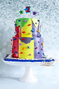 Indoor Rock Climbing Cake