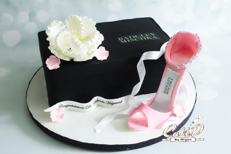 Badgely Mischka Shoe Box Cake
