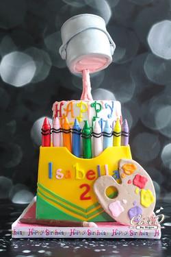 Gravity Defying Crayola Cake
