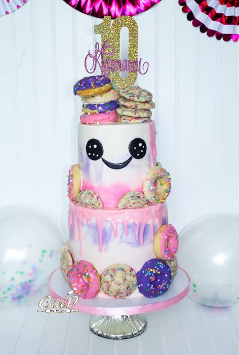 Funfetti Cookie Birthday Cake