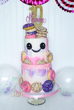 Funfetti Cookie Birthday Cake
