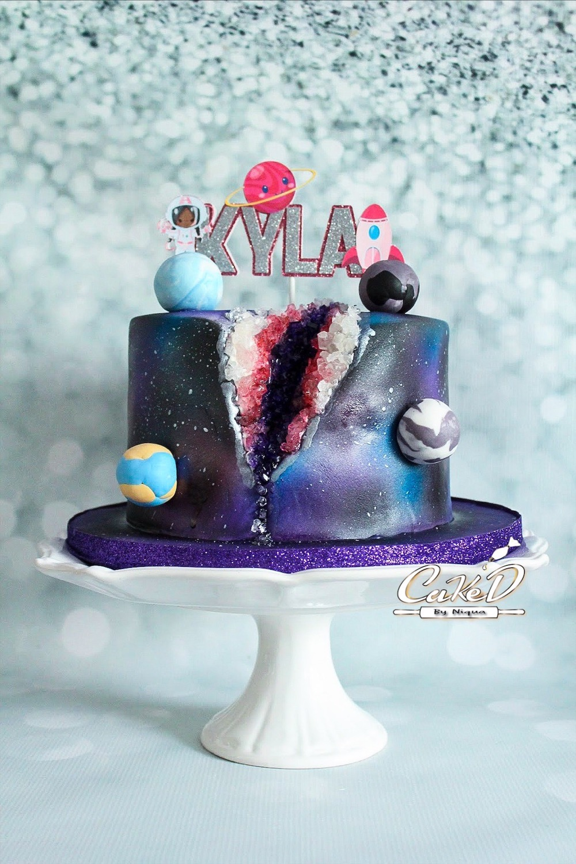 Galaxy Geode Cake