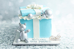 Tiffany Gift Box Baby Shower Cake