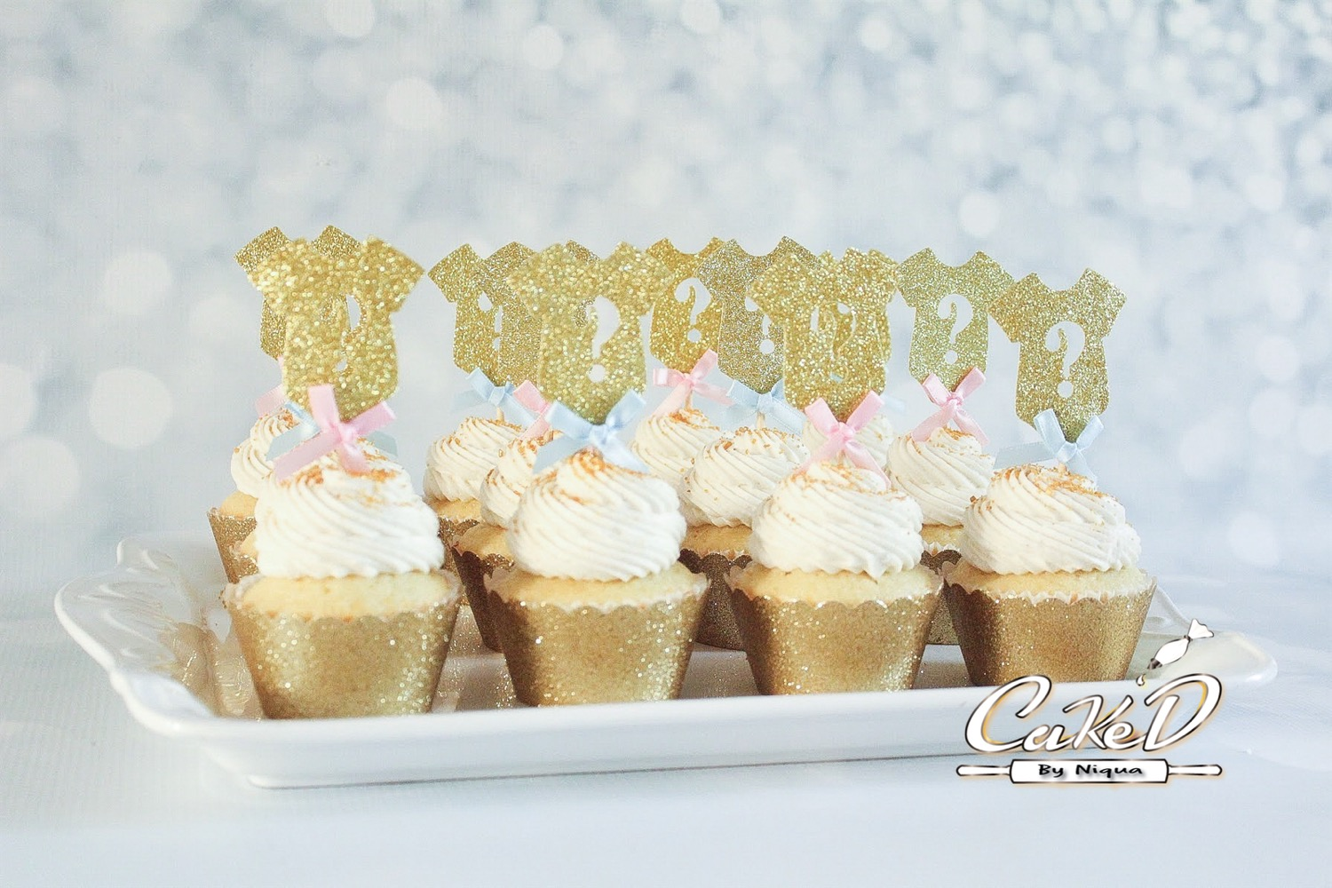 Gender Reveal Baby Shower Cupcakes