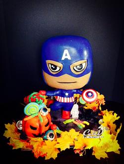 Captain America Chibi Cake