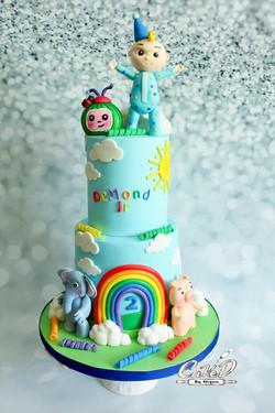 Cocomelon Birthday Cake
