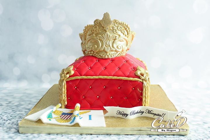 Royal Pillow Cake with Crown