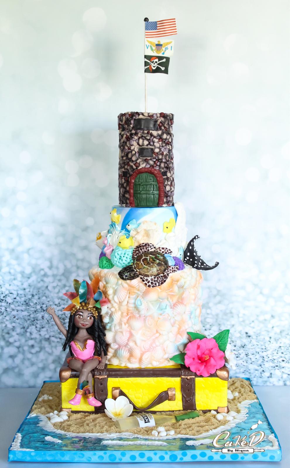 U.S. Virgin Islands Themed Cake