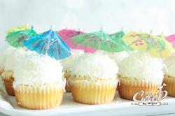 Coconut Cream Luau Cupcakes