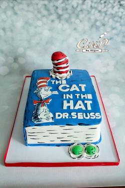 Cat In The Hat Book Cake