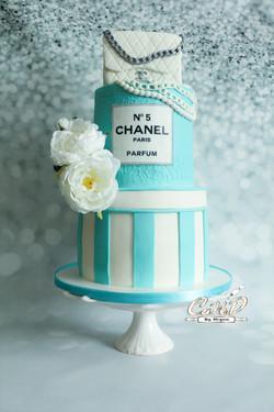 Chanel Cake in Tiffany Blue