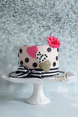 Kate Spade Inspired Birthday Cake