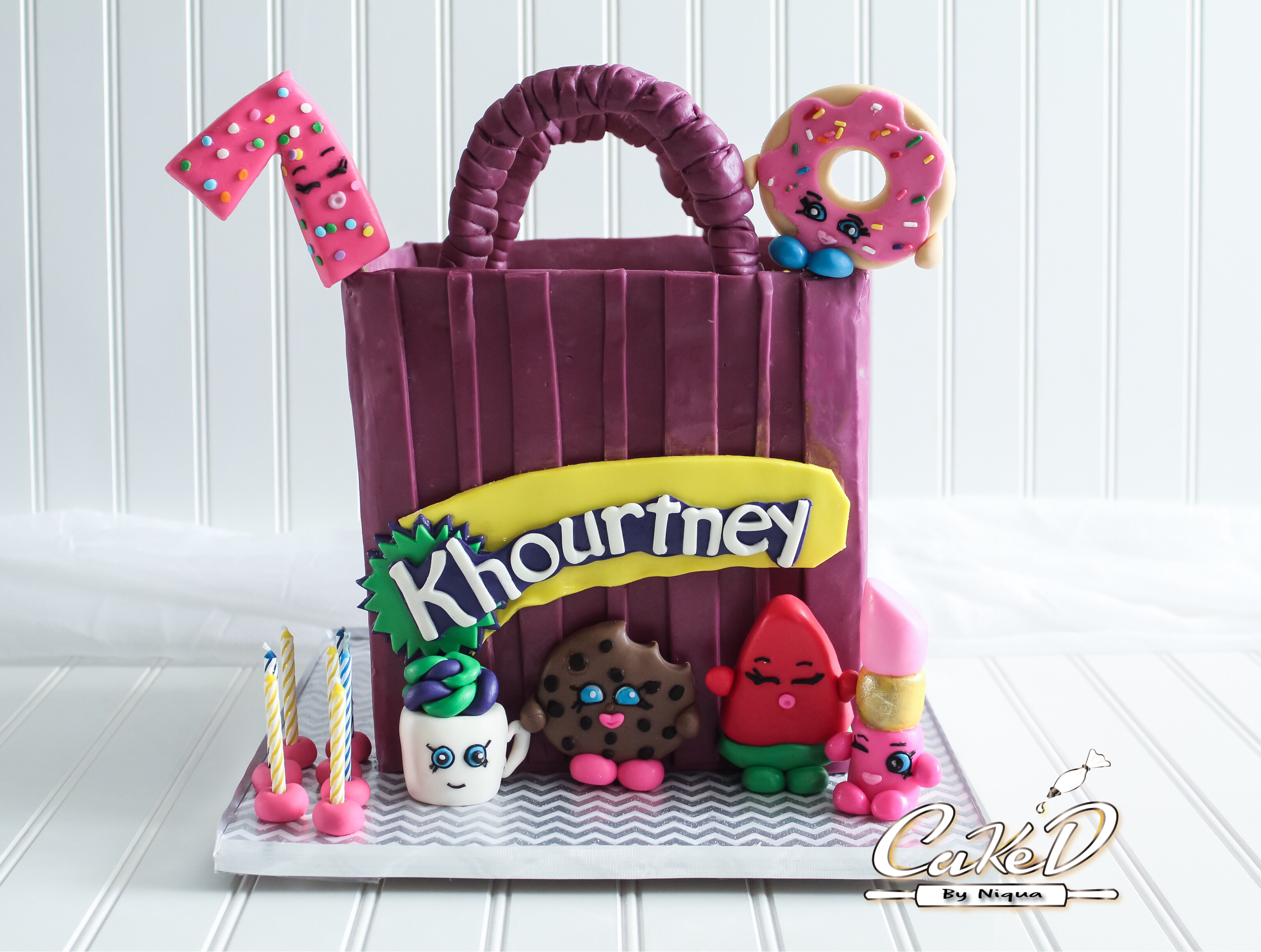 Shopkins Shopping Bag Cake