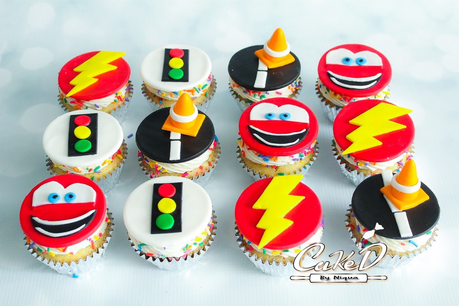Lightning McQueen Cars Cupcakes