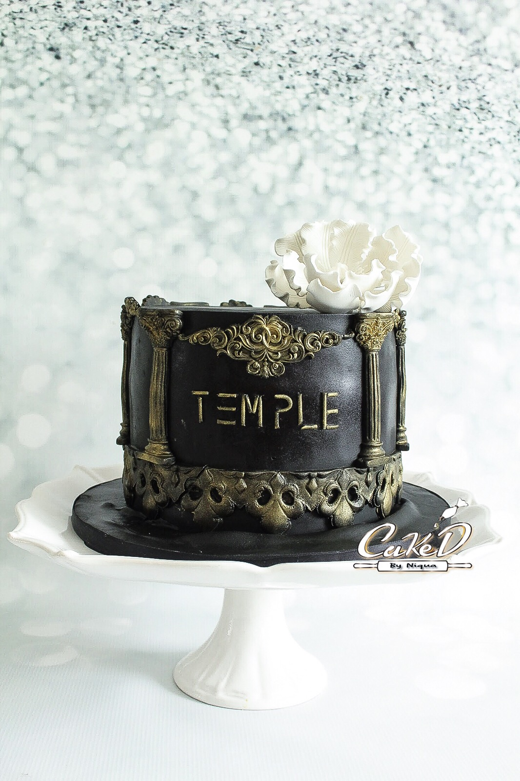 Temple Column Logo Cake