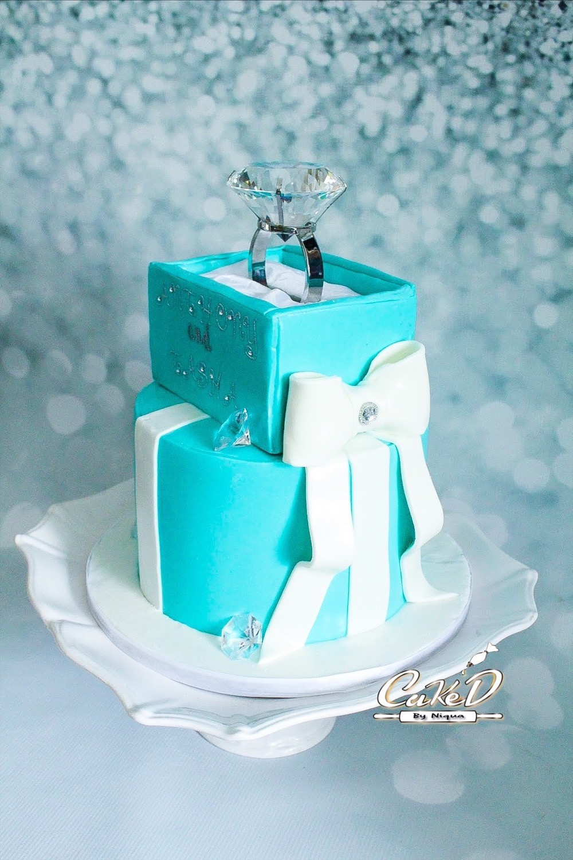 Tiffany Engagement Cake