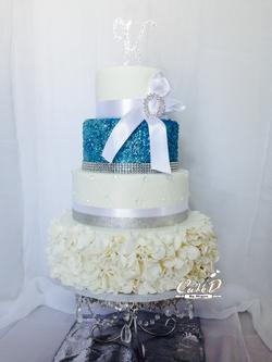 Sequins Wedding Cake