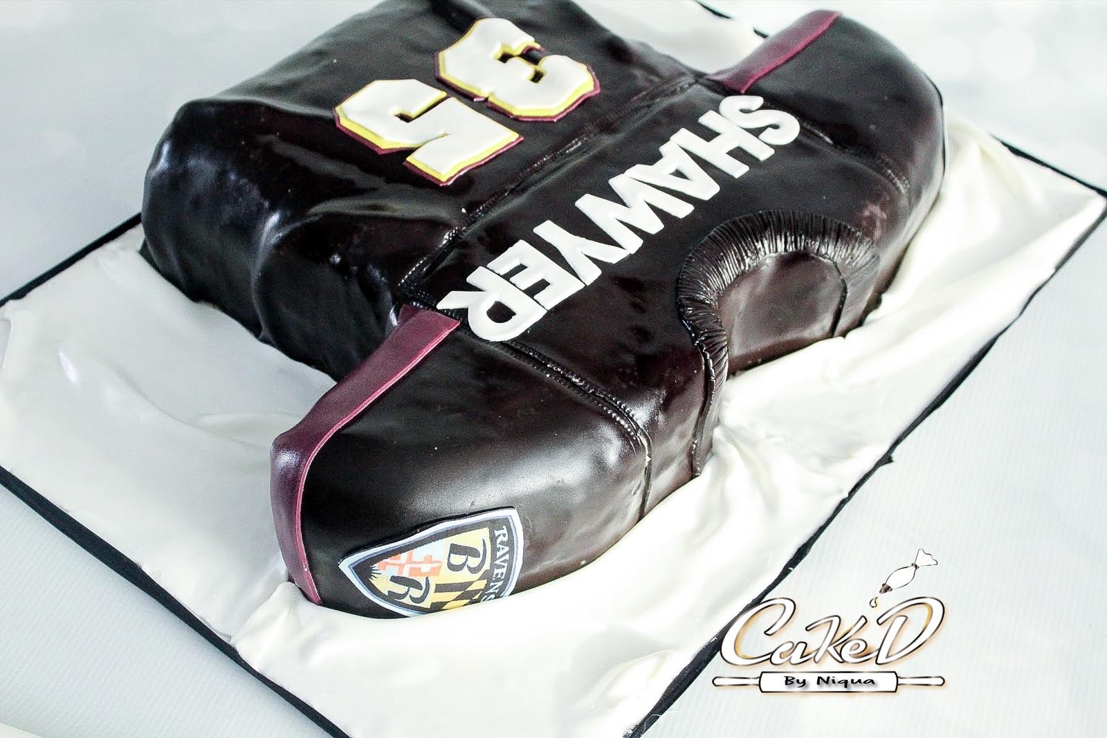 Ravens Football Jersey Cake