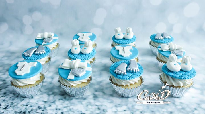 Tiffany Baby Shower Cupcakes