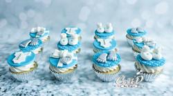 Tiffany Baby Shower Cupcakes
