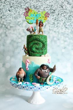 Moana Heart of Tefiti Cake