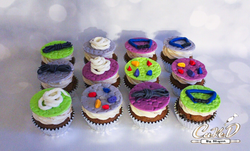 Indoor Rock Climbing Themed Cupcakes