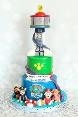 Paw Patrol Tower Cake