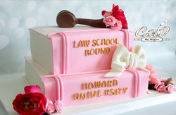 Legally Blonde Law School Book Cake