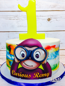 Curious George Smash Cake