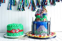 Ninja Turtle Cake and Smash Cake