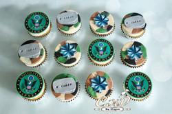 Army Camo Cupcakes