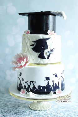 Silhouette Graduation Cake