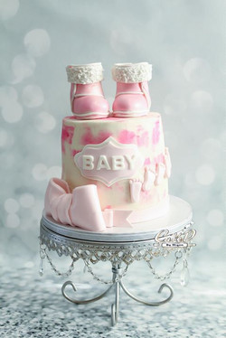 Baby Boots Baby Shower Cake