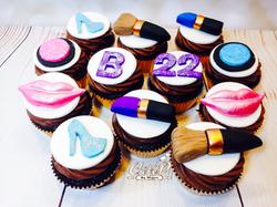 Makeup Themed Cupcakes