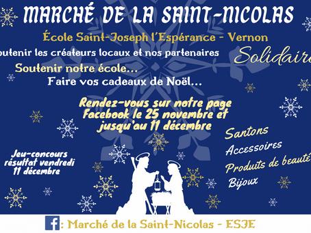 """Marché """"virtuel"""" de la Saint Nicolas - Ecole Saint-Joseph l'Espérance"""